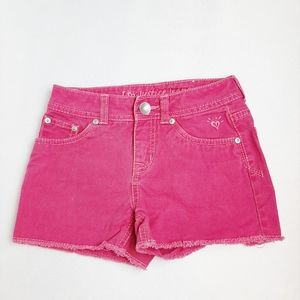 Justice Jeans Bright Pink Denim Shorts Girls 8